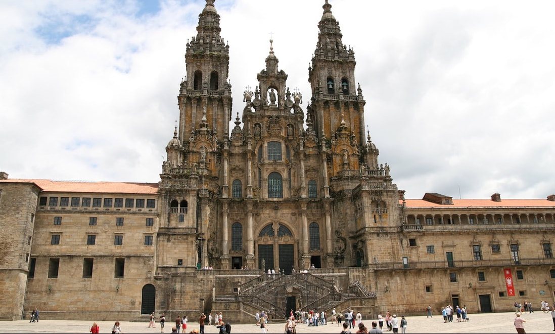 The Cathedral at Santiago de Compostela by Bernt Rostad