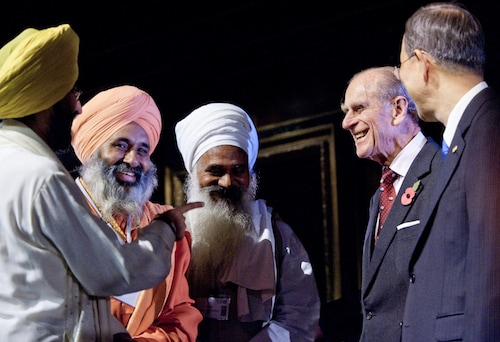 Photo: Duke of Edinburgh meets Sikh leaders, by ARC/Richard Stonehouse